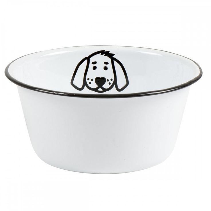 """Ib Laursen Hundenapf """"Emaille"""" (Weiß)"""