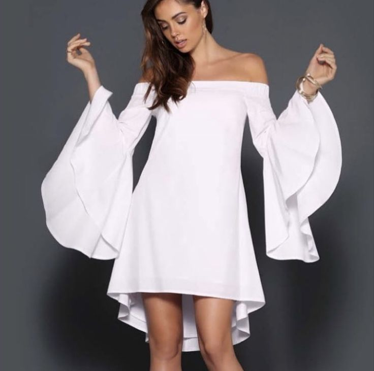Lily off the shoulder Dress in White