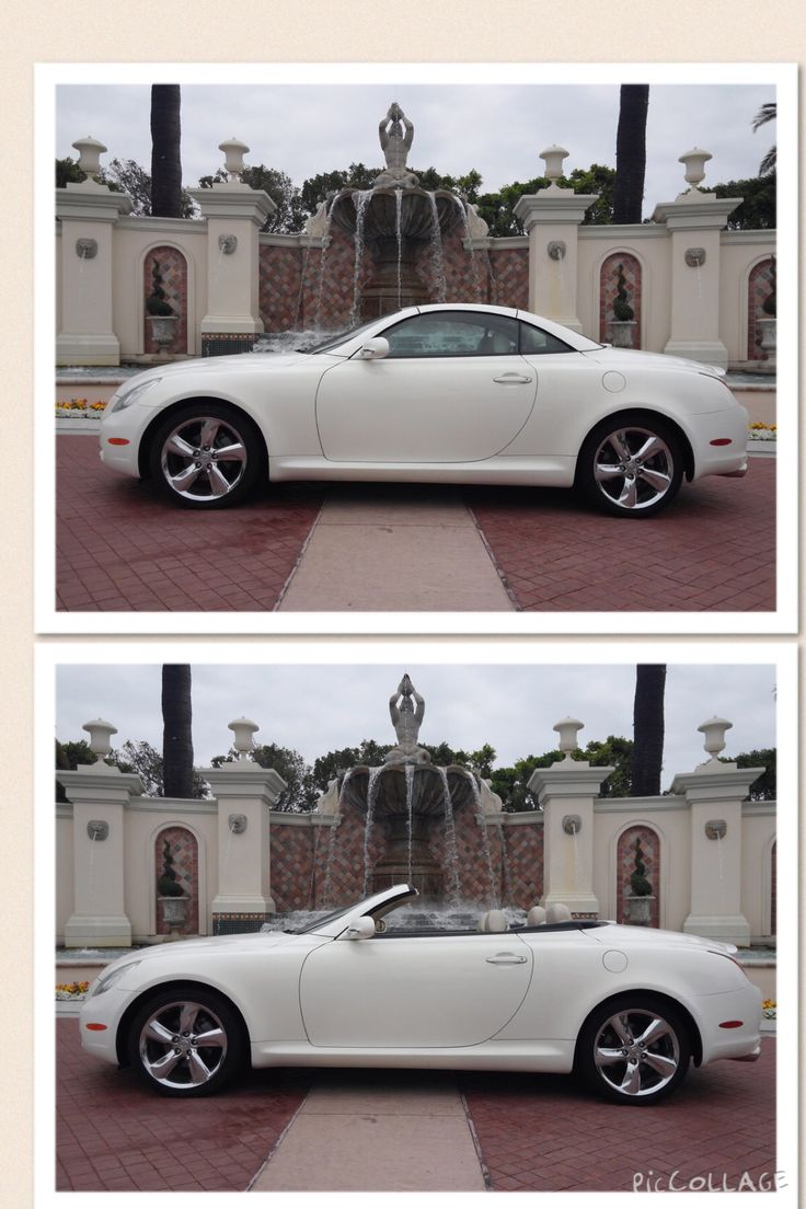 Lexus sc430 convertible this white car is striking with the tan contrast of the interior