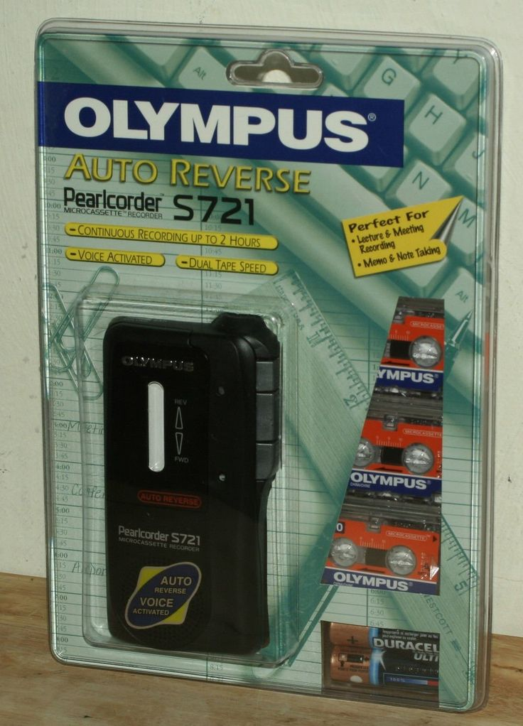 Olympus Pearlcorder S721 2-speed MicroCassette Recorder with Auto Reverse