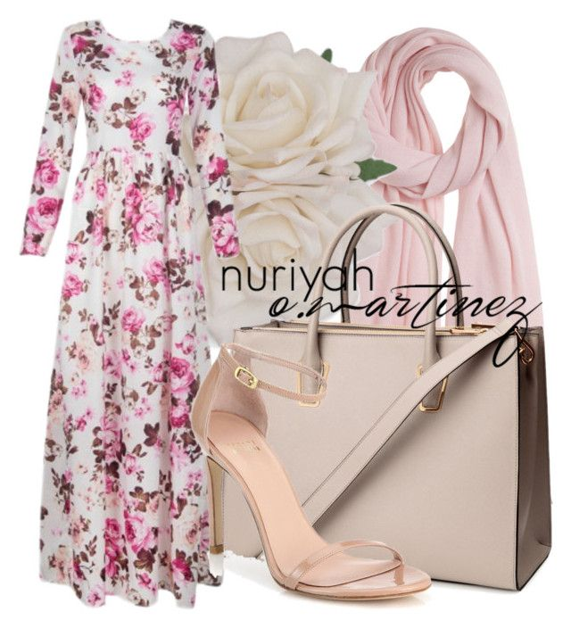 """""""Hijab Outfit #660"""" by hashtaghijab ❤ liked on Polyvore featuring Calypso St. Barth, H&M, Stuart Weitzman and hijab"""