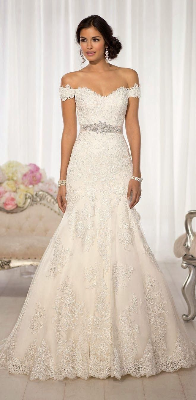 This Could Be My Dream Dress Beautiful Essense Of Australia All Over Lace Fit And Flare Wedding Feature Diamante Beading Throughout Romantic Cap