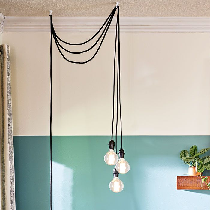 pendant w wood pulley hanging lamp lamps