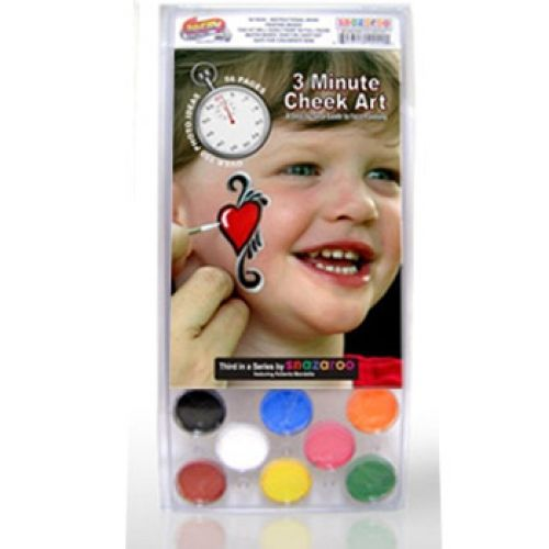 Three Minute Cheek Art Face Painting Kits (8 Colors)
