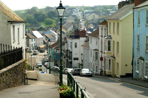 Modbury High Street, South Devon, close to The Thatches and our holiday home The Beach House.