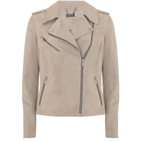 Mint Velvet Oyster Suede Multi Zip Biker Jacket (10.370 UYU) ❤ liked on Polyvore featuring outerwear, jackets, women coats & jackets, suede blazer, brown biker jacket, brown blazer, blazer jacket and summer motorcycle jacket
