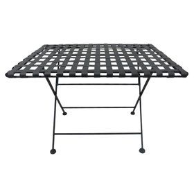 woven metal furniture. picture of metal woven coffee table black 22x30in furniture
