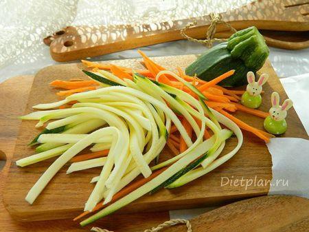 Макароны с овощами - пошаговый рецепт с фото |  Диетические низкокалорийные рецепты - блюда правильного питания на Dietplan.ru