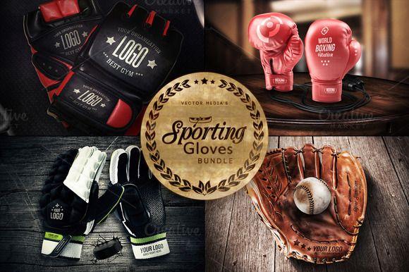Sporting Gloves - Mockups [BUNDLE] by VectorMedia on @creativemarket