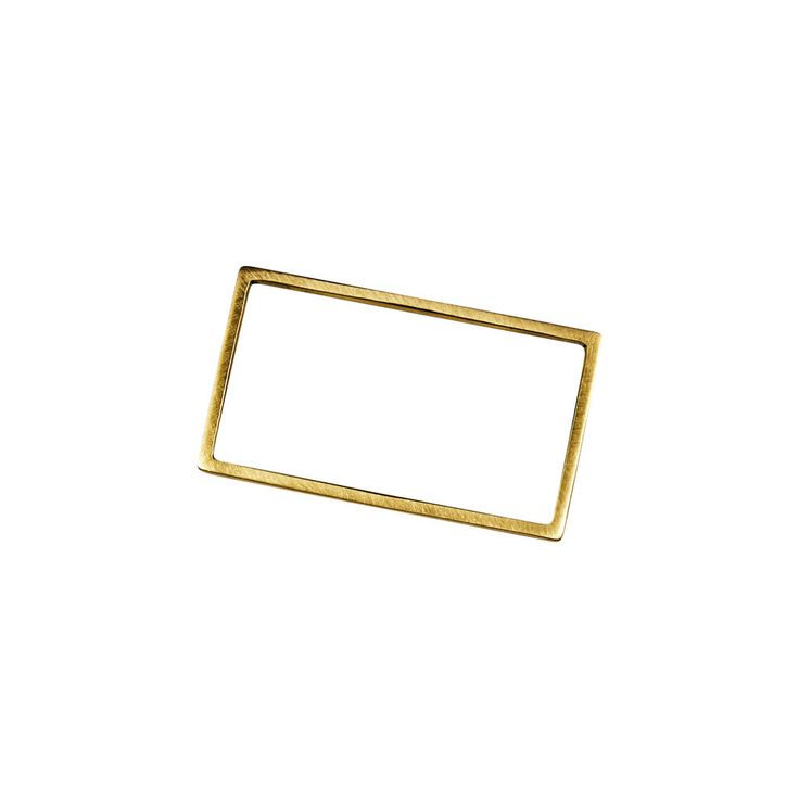Rectangle Double Finger Ring Gold
