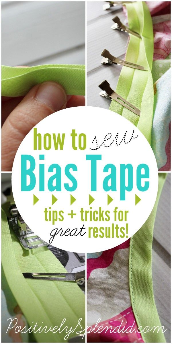 Foolproof tips for how to sew bias tape like a pro, even if you are a beginner!Sew Bias Tape, Sewing Bias Tape, Sewing Crafts, Splendid Crafts, Positive Splendid, Sewing For Beginners Projects, Home Decor, Better Job, Sewing Fun