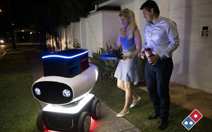 """#DOMINO""""S #trials pizza delivery -- by #robot..."""