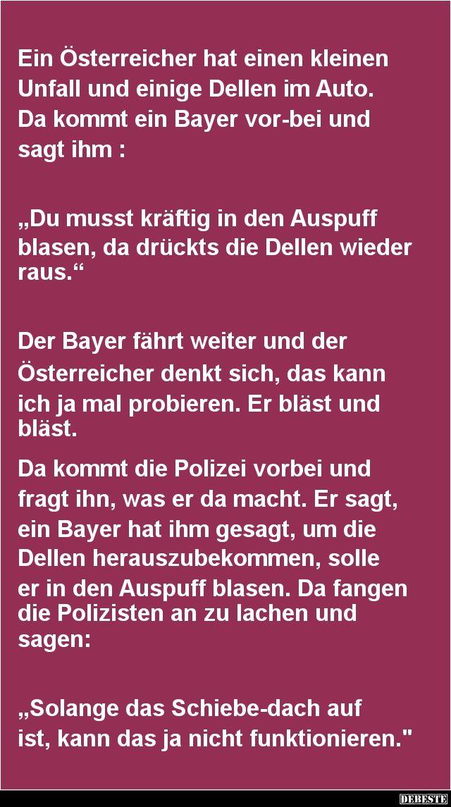 Ein Österreicher hat einen kleinen Unfall | DEBESTE.de, Lustige Bilder, Sprüche, Witze und Videos