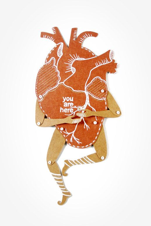 My Heart  Valentine's gift  Articulated Paper Dolls by dubrovskaya