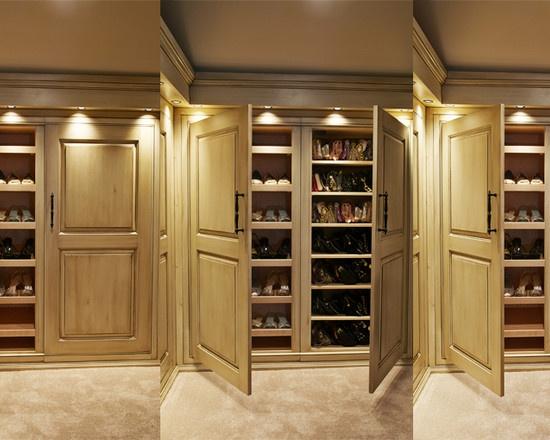 Wall Of Closets - no drywall between