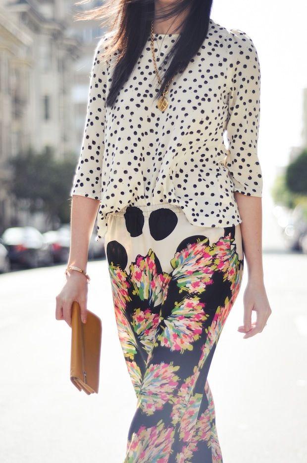 mixed patterns: Fun Patterns, Fashion, Polka Dots, Mixed Patterns, Mixed Prints, Stitches Fix, Maxis Skirts, Patterns Mixed, Sweet Life