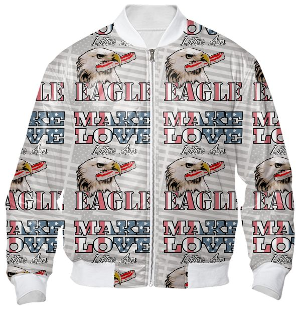 Make Love Like an Eagle Bacon Bomber Jacket