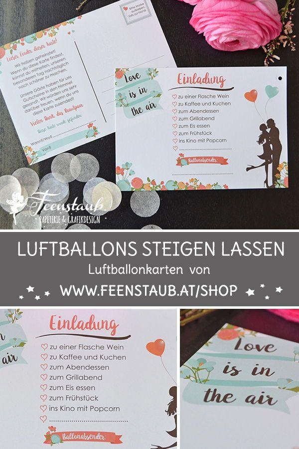 Ballonflugkarten Fur Die Hochzeit Ballonflugkarten Luftballons Hochzeit Brauche