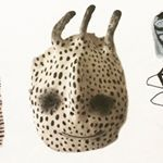 Ceramic stoneware mask by Emma Larsson @zebrakadebra