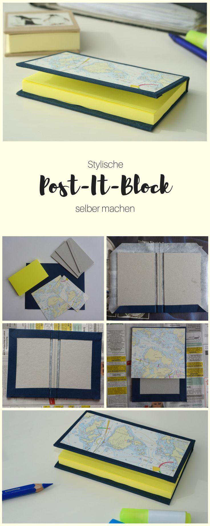 Unordnung, Chaos und keinen Überblick über wichtige Termine? Probiert es doch mal mit diesem coolen, praktischen Post-It-Block!  DIY Blog Lunaria   DIY Post-It-Block
