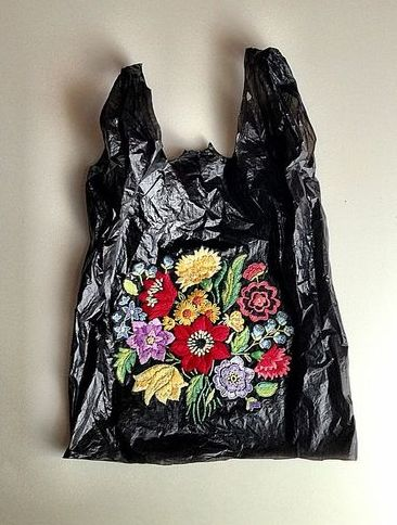 Embroidered Bin Bag
