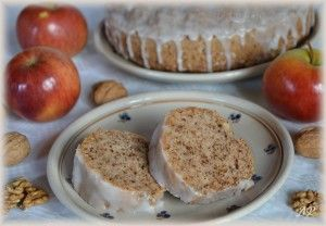 jablkovo ořechová bábovka