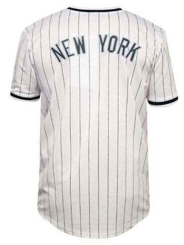 Majestic Athletic Kabor V-Neck Poly Jersey Yankees - White