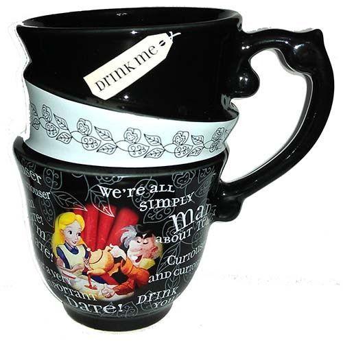 Alice No País Das Maravilhas empilhados Caneca de café chá xícara parques temáticos Disney World Novo in Colecionáveis, Colecionáveis Disney, Contemporâneos (1968 até o presente) | eBay