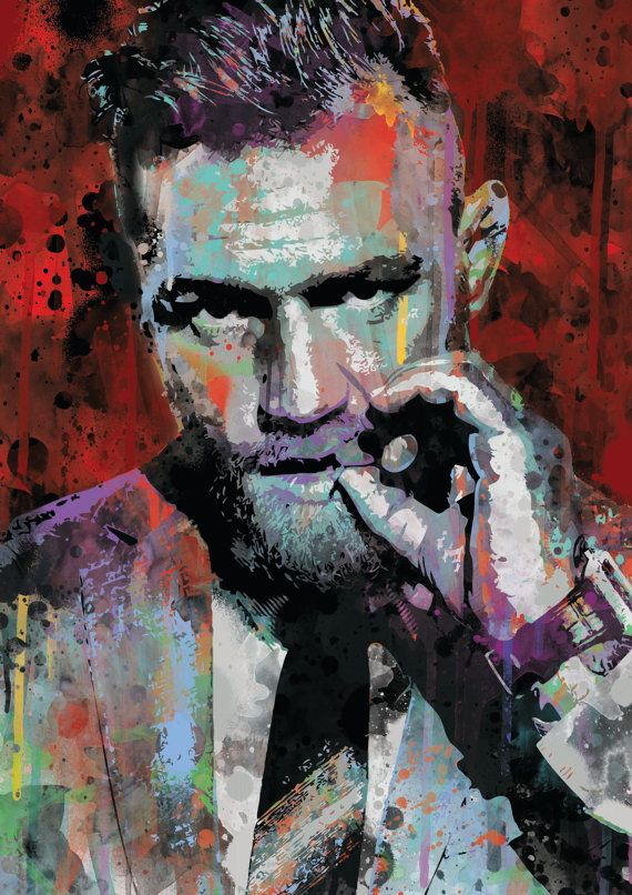 Conor McGregor UFC spray paint street art by ExtremepandaDesign