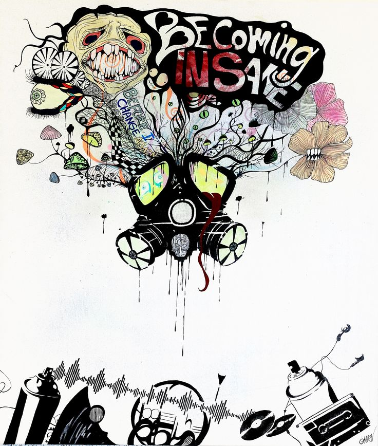 """Visual interpretation of the song """"Becoming Insane"""" by Infected Mushroom"""