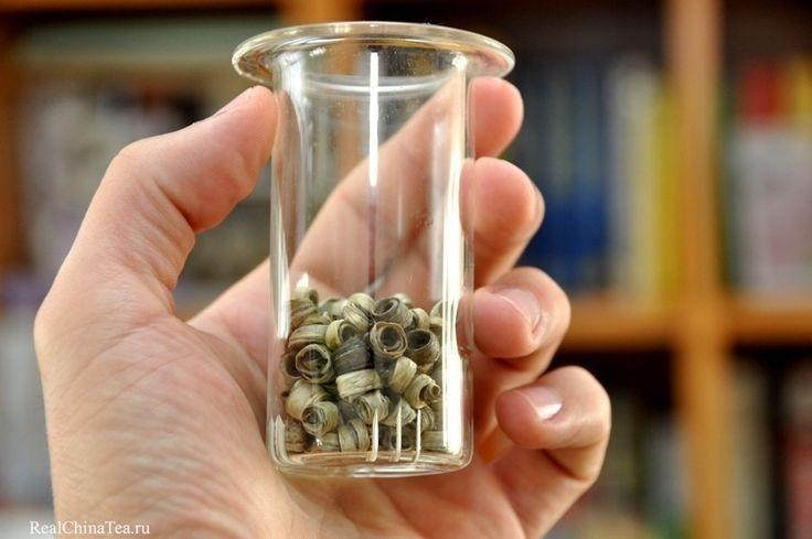 Зеленые кольца можно заваривать в любой посуде на ваш выбор. Сегодня я выбрал чайную колбу. www.realchinatea.ru
