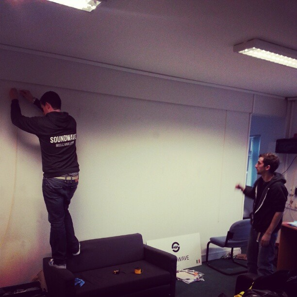 Our Friends at Soundwave HQ getting ready to Smart Wall Paint their offices