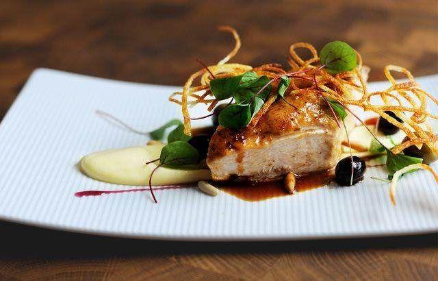 Roast chicken breast, potato purée and pine nuts | Recipe | Roasts ...