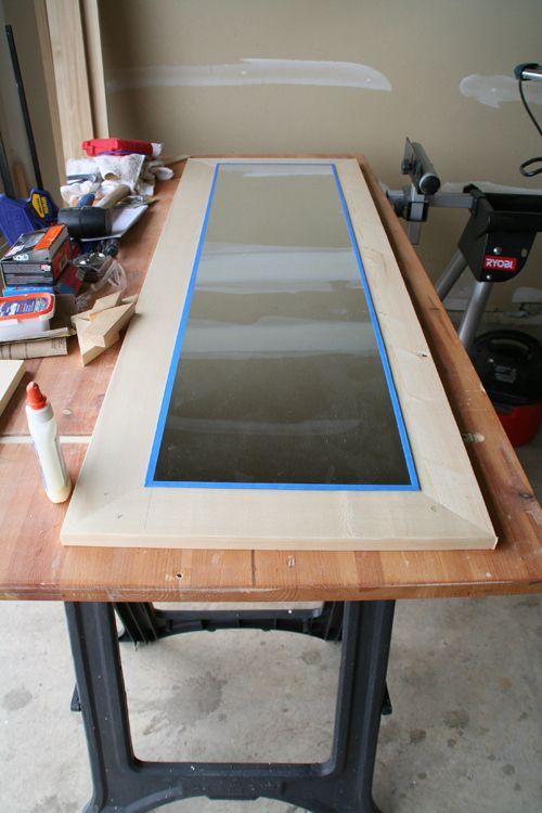 DIY Wood frame for full length mirror