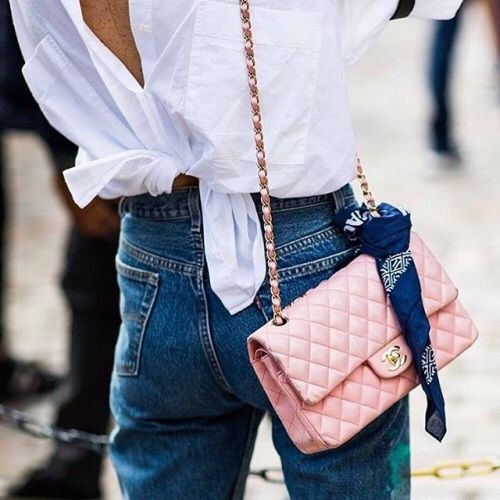 pink chanel, back knot