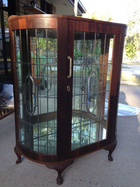 Patrull Fire Extinguisher Ikea ~ 1930s 1940s Glass Bow Front Cabinet Antiques Gumtree Australia Logan