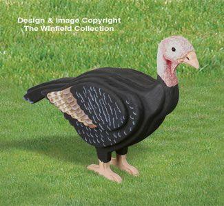 3D Life Size Female Turkey Woodcrafting Pattern