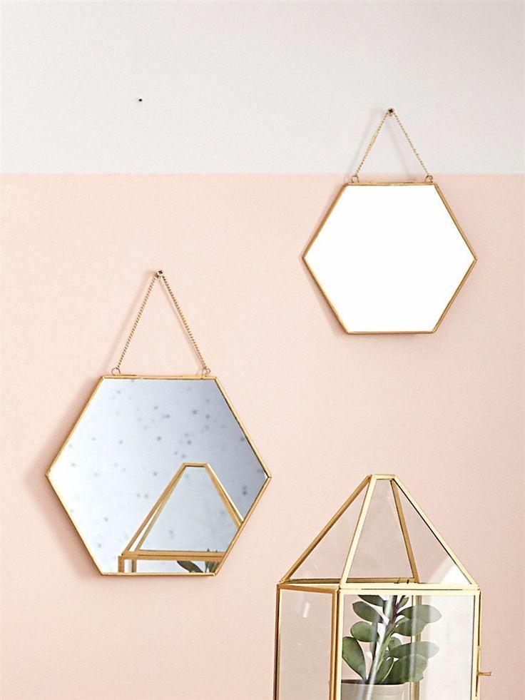 Les 142 meilleures images du tableau miroir mirror sur for Miroir hexagonal cuivre