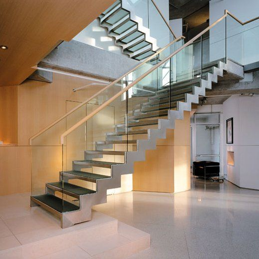 Contemporary stairs contemporist stairs pinterest for Escaleras de cemento para interiores