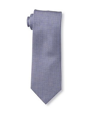 58% OFF Battistoni Men's Checkered Tie, Navy/White