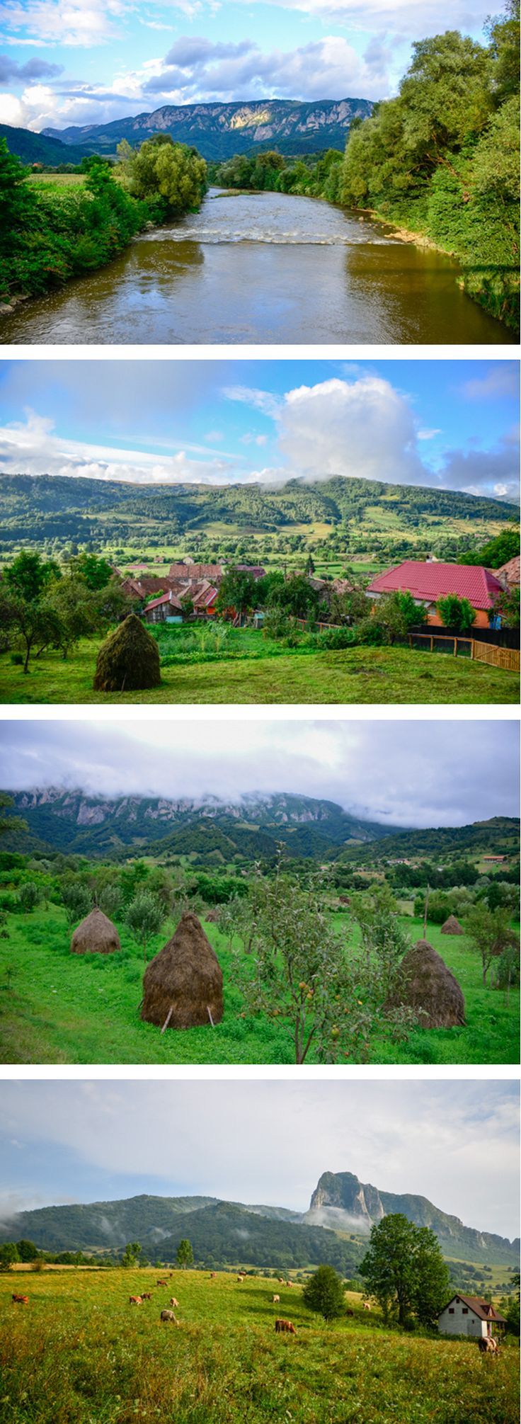 Imagine staying in a rural pension with a Romanian family in these stunning country landscapes, in Transylvania!