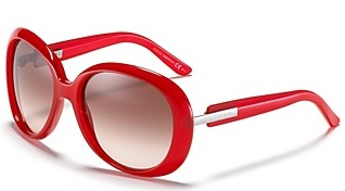 Gucci Red Rounded Oversized Sunglasses