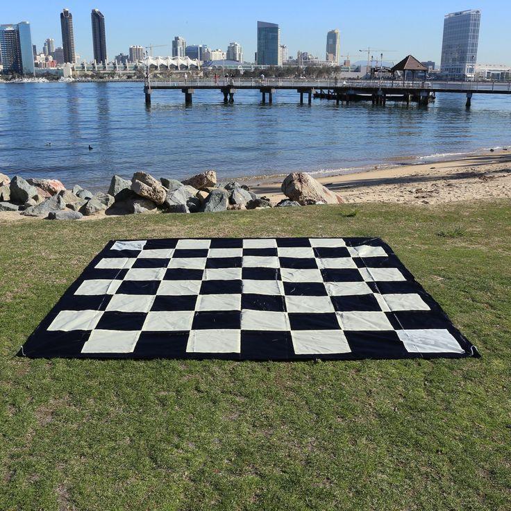 "Giant Chess Nylon Mat (8'10"" x 8'10"")"