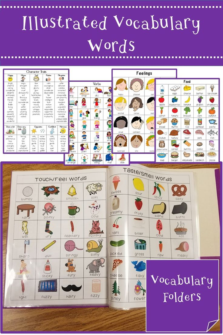 Create vocabulary folders of illustrated vocabulary words. Great for supporting ELL student with vocabulary development and struggling writers.