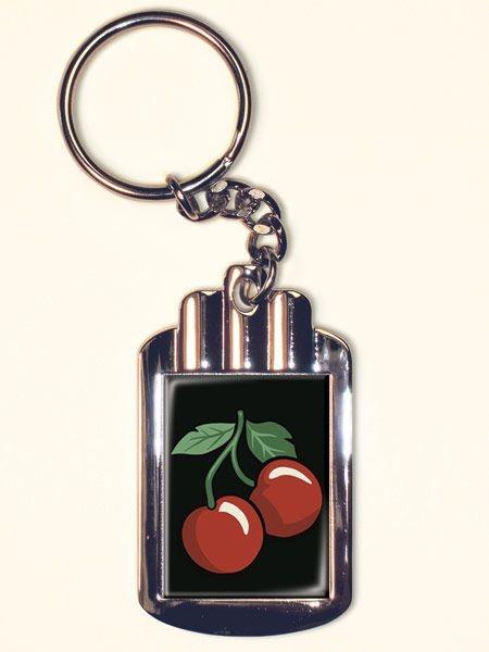Le porte clé rétro Cherry | DECO ACCESSOIRES PIN UP ATTITUDE : Nos clés tiennent une grande place dans notre vie alors pour égayer la routine mettez du fun et ouvrez toutes vos serrures avec style!  http://www.pinupattitude.com/gamme.htm?products_name=Le+porte%20cl%E9%20r%E9tro%20Cherry_id=14#  #accessoires #deco #vintage #oldschool #rock #shopping #retro #50s #60s #rockabilly #sexy #glamour #pinup