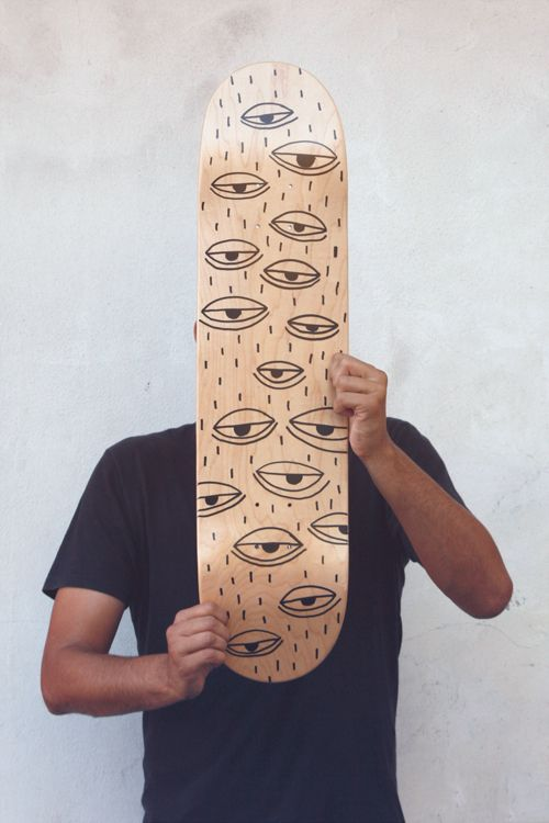 Melro skateboard deck by Efe #skate #board #portrait