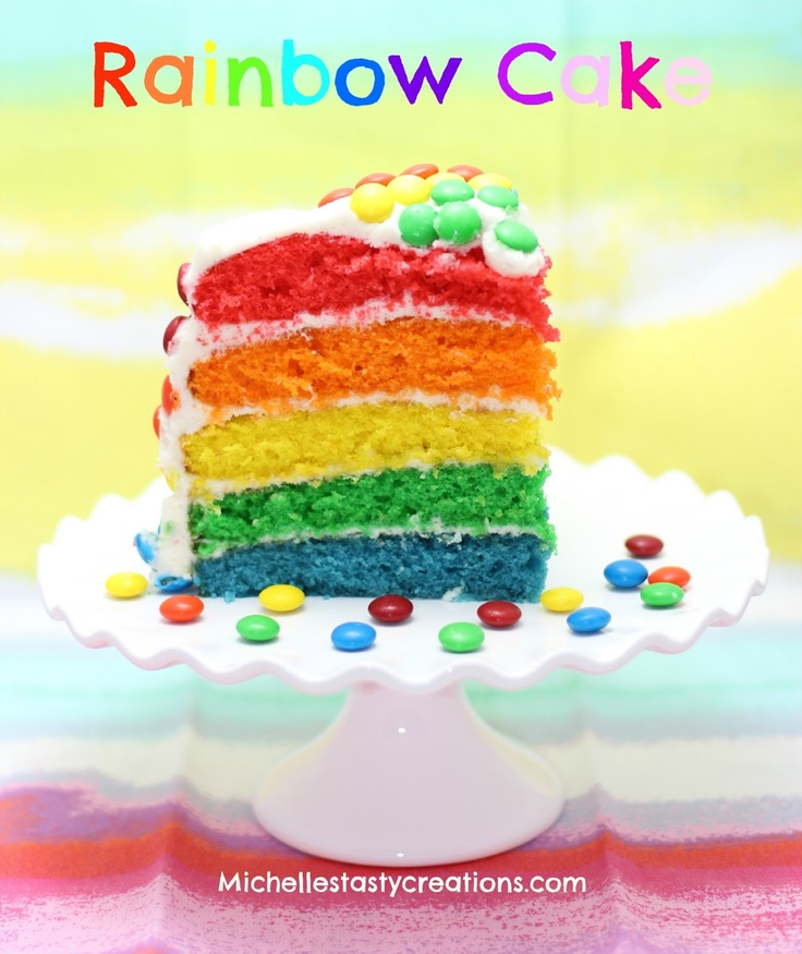 Children S Birthday Cakes By Michele Pictures : Michelle s Tasty Creations: Rainbow Cake Cakes ...