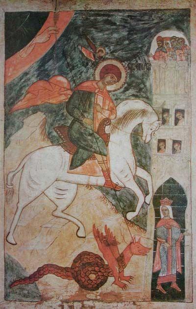 русские иконы 16 века - Поиск в St. George Slaying the Dragon