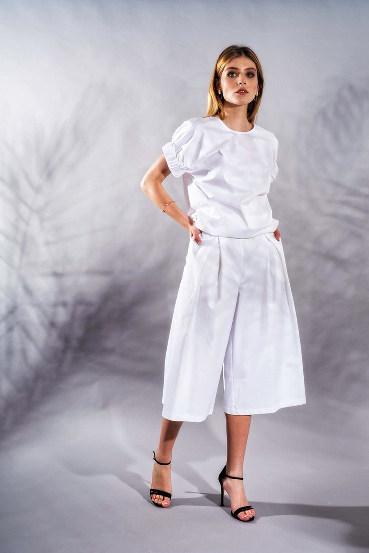 Poplin Blouse and Culottes www.framboise.ro