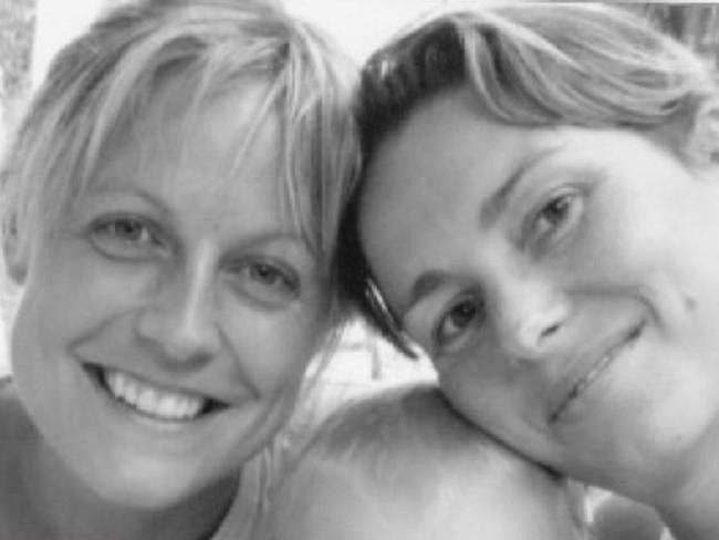 Marta Dusseldorp with her friend Paulina. Breast cancer awareness.